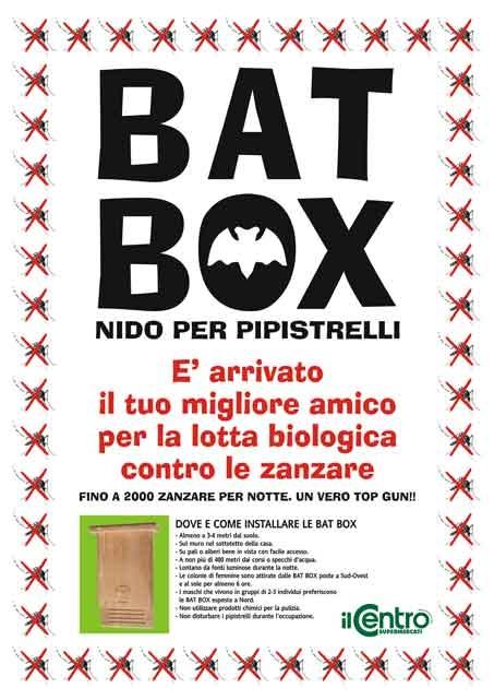 Il Centro locandina Bat Box nido per Pipistrelli