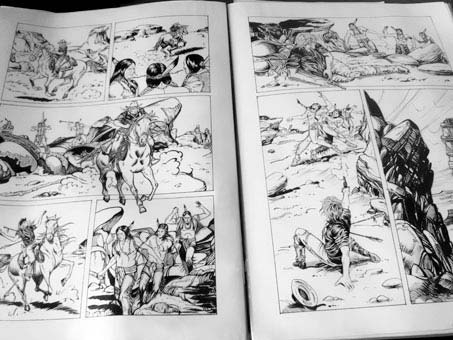 Laura pagine fumetti western