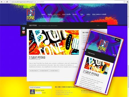 sito responsive, big tone studio, sito adattabile a tablet