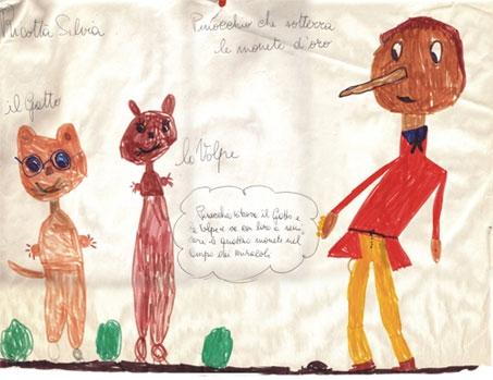 disegno infanzia Silvia Ricotta - Pinocchio