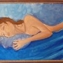 quadro a tempera Dormiente Silvia Ricotta