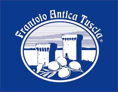 logo antica tuscia su sfondo blu logo produttore olio Battaglini