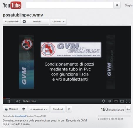 video youtube Gvm posa tubo pozzi