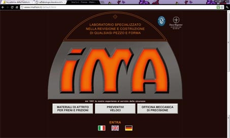 sito web sito internet www.imafreni.it