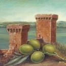 Quadro tempera ad olio Frantoio antica Tuscia Battaglini