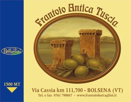 cartello stradale Frantoio Antica Tuscia