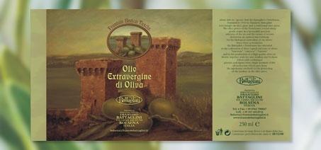 etichette per stagnina di olio Frantoio antica Tuscia Battaglini