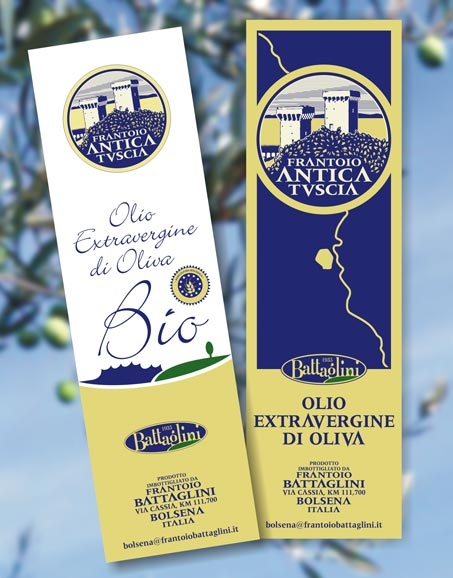 etichette per olio bio Battaglini