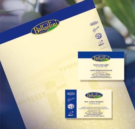 Editing Battaglini Biglietto da visita, Carta intestata