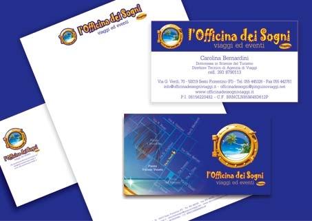 Editing Officina dei Sogni Biglietto da visita, Carta intestata