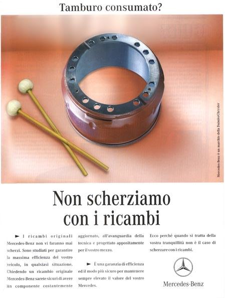 annuncio pubblicitario Mercedes Benz Silvia Ricotta