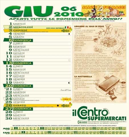 Il Centro calendario 2010